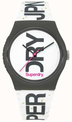 Superdry Orologio in silicone bianco unisex SYL189WB