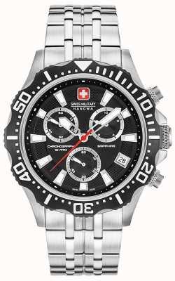 Swiss Military Hanowa Quadrante nero opaco cronografo per pattuglia 06-5305.04.007