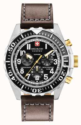 Swiss Military Hanowa Cassa in acciaio inox cronografo touchdown uomo 06-4304.04.007.05