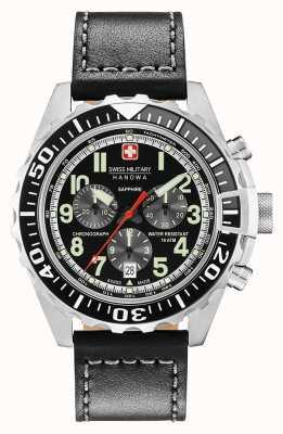 Swiss Military Hanowa Cassa in acciaio inox cronografo touchdown uomo 06-4304.04.007.07