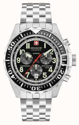 Swiss Military Hanowa Mens cronografo touchdown nero 06-5304.04.007