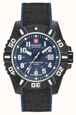 Swiss Military Hanowa Cinturino blu opaco in carbonio nero 06-4309.17.003SM