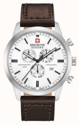 Swiss Military Hanowa Cinturino in pelle marrone classico uomo 06-4308.04.001