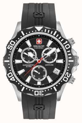 Swiss Military Hanowa Quadrante nero opaco cronografo per pattuglia 06-4305.04.007