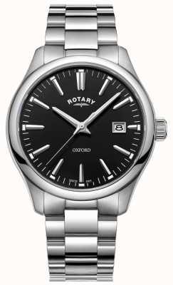 Rotary Bracciale da uomo in acciaio inossidabile con orologio oxford GB05092/04