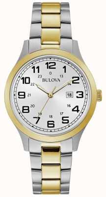 Bulova Bracciale in acciaio inossidabile bicolore con orologio da donna 98M128