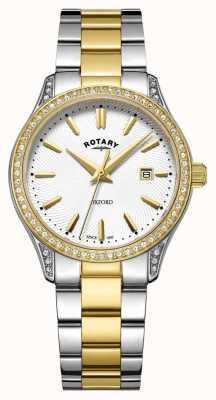 Rotary Orologio al quarzo da donna in acciaio inossidabile bicolore oxford LB05093/02
