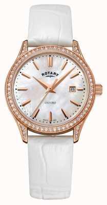 Rotary Orologio da donna al quarzo in oro rosa con cinturino in pelle oxford LS05096/41