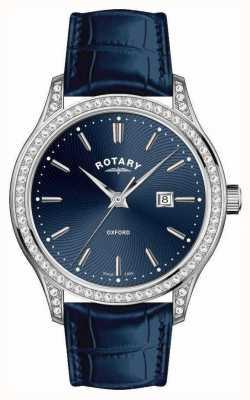 Rotary Orologio da donna al quarzo blu cinturino in pelle oxford LS05092/05