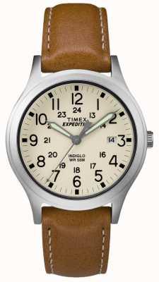 Timex Quadrante naturale con cinturino in pelle marrone chiaro TW4B11000