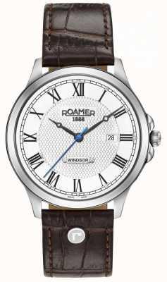 Roamer Cinturino da uomo in pelle marrone windsor 706856411207