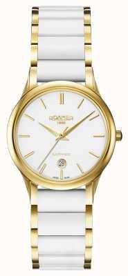 Roamer Cassa in oro bianco da donna in ceramica bianca c-line 657844482560