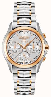 Roamer Cronografo da donna in argento e oro rosa 203901491520