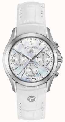 Roamer Cinturino cronografo da donna con cronografo searock bianco 203901411002