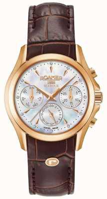 Roamer Cinturino da donna con cronografo in pelle marrone searock 203901491002