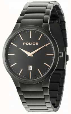 Police Quadrante nero in braccialetto nero orizzontale 15246JSB/02M