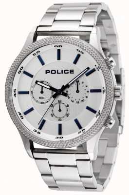 Police Bracciale Pace in acciaio con quadrante argentato 15002JS/04M