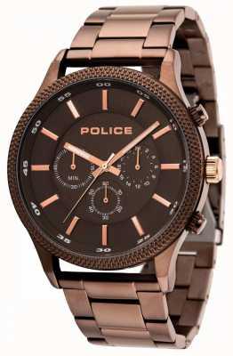 Police Bracciale Pace marrone con quadrante grigio 15002JSBN/13M
