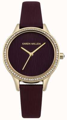 Karen Millen Quadrante strutturato in pelle di gelso KM165VG