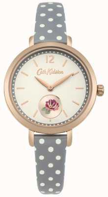 Cath Kidston Cinturino in polkadot con quadrante stampato rosa stampa kaki CKL036NRG