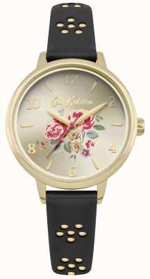 Cath Kidston Quadrante floreale con cassa in oro a taglio laser con cinturino floreale CKL043BG