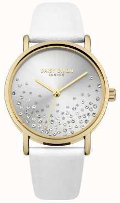Daisy Dixon Cinturino bianco con quadrante in glitter sunray DD053WG