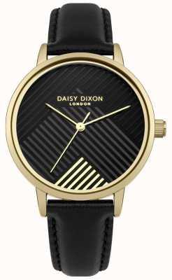 Daisy Dixon Cinturino nero con quadrante nero opaco DD056BG