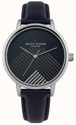 Daisy Dixon Cinturino blu con quadrante a righe opaco DD056US