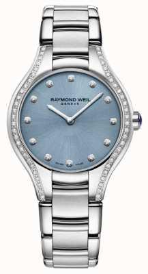 Raymond Weil Diamante nero del braccialetto dell'acciaio inossidabile del diamante delle donne 5132-STS-50081