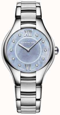 Raymond Weil Diamante blu del braccialetto dell'acciaio inossidabile del diamante delle donne 5132-ST-00955