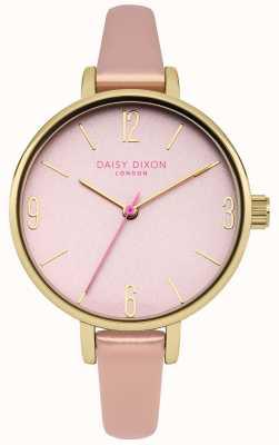 Daisy Dixon Quadrante a specchio rosa cinturino rosa metallizzato DD060PPG