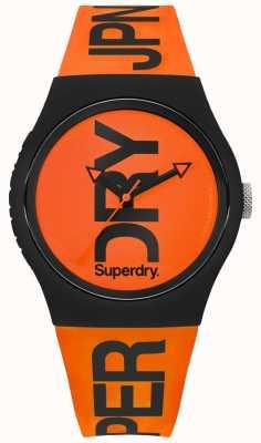 Superdry Cinturino in silicone arancione quadrante arancio SYG189OB