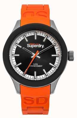 Superdry Cinturino in silicone arancione quadrante arancio con scuba SYG211O