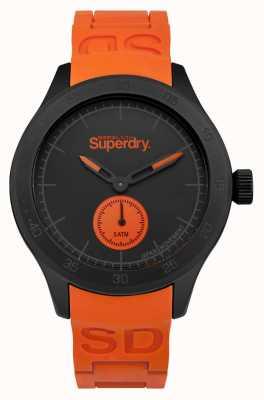 Superdry Cinturino in silicone arancione quadrante arancio con scuba SYG212OB