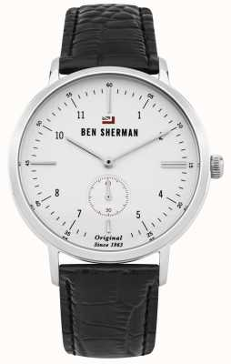 Ben Sherman Il cinturino in pelle nera professionale del dylan professionale WBS102WB