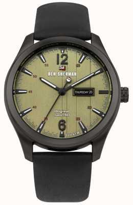Ben Sherman Il caso sugarman green dial cassa in acciaio inox nero WBS105BB