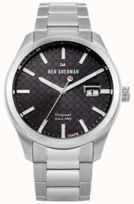 Ben Sherman La data del braccialetto professionale dell'acciaio inossidabile ronnie WBS109TSM