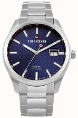 Ben Sherman Il quadrante blu del braccialetto dell'acciaio inossidabile del ronnie WBS109BSM