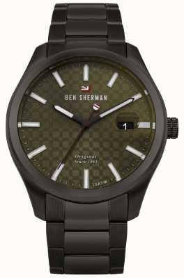 Ben Sherman Il braccialetto nero cassa del quadrante verde professionale del ronnie WBS109BBM