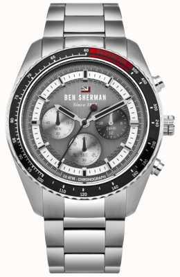 Ben Sherman Il quadrante grigio cronografo ronnie in acciaio inossidabile WBS108BSM