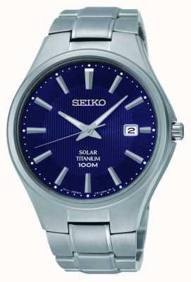 Seiko Titanio data visualizzazione azzurro SNE381P9