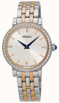Seiko Custodia in cristallo due cinturini in braccialetto SFQ810P1