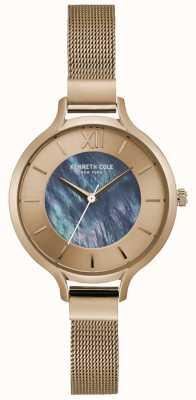 Kenneth Cole Bracciale a maglie in acciaio inossidabile quadrante argentato New york KC15187001