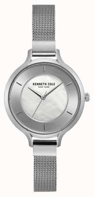 Kenneth Cole Bracciale a maglie in acciaio inossidabile quadrante argentato New york KC15187001