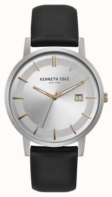 Kenneth Cole Indicatore di data in oro rosa quadrante argentato New York KC15202001