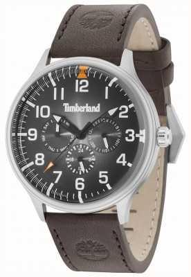 Timberland Cinturino in pelle marrone scuro con quadrante nero Blanchard 15270JS/02