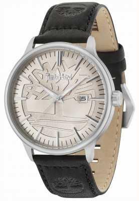 Timberland Cinturino in pelle nera quadrante beige Edgemont 15260JS/11