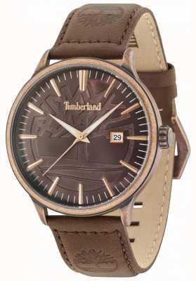 Timberland Cinturino in pelle marrone antico quadrante marrone ottone Edgemont 15260JSQBZ/12