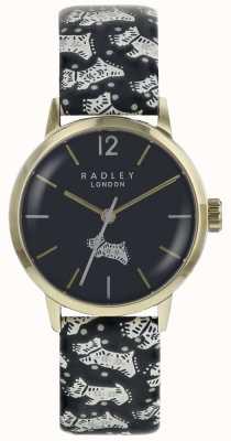 Radley Cassa in acciaio inossidabile pvd oro con cassa quadrante nera RY2570