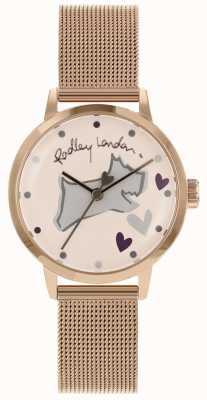 Radley Bracciale a maglie in oro rosa acciaio inossidabile Love Lane RY4324